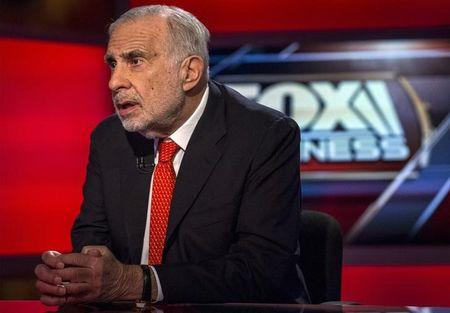 Carl Icahn gives an interview on FOX Business Network's Neil Cavuto show in New York
