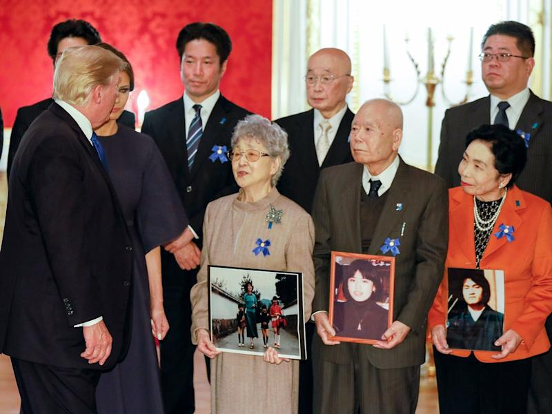 Japan Trump Abducted Families