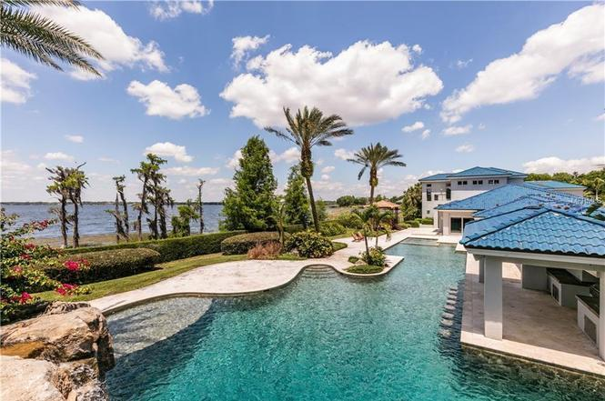 Be it a massive pool or Lake Butler, Shaq's house is going to give you plenty of places to take a swim. (Photo from Redfin)