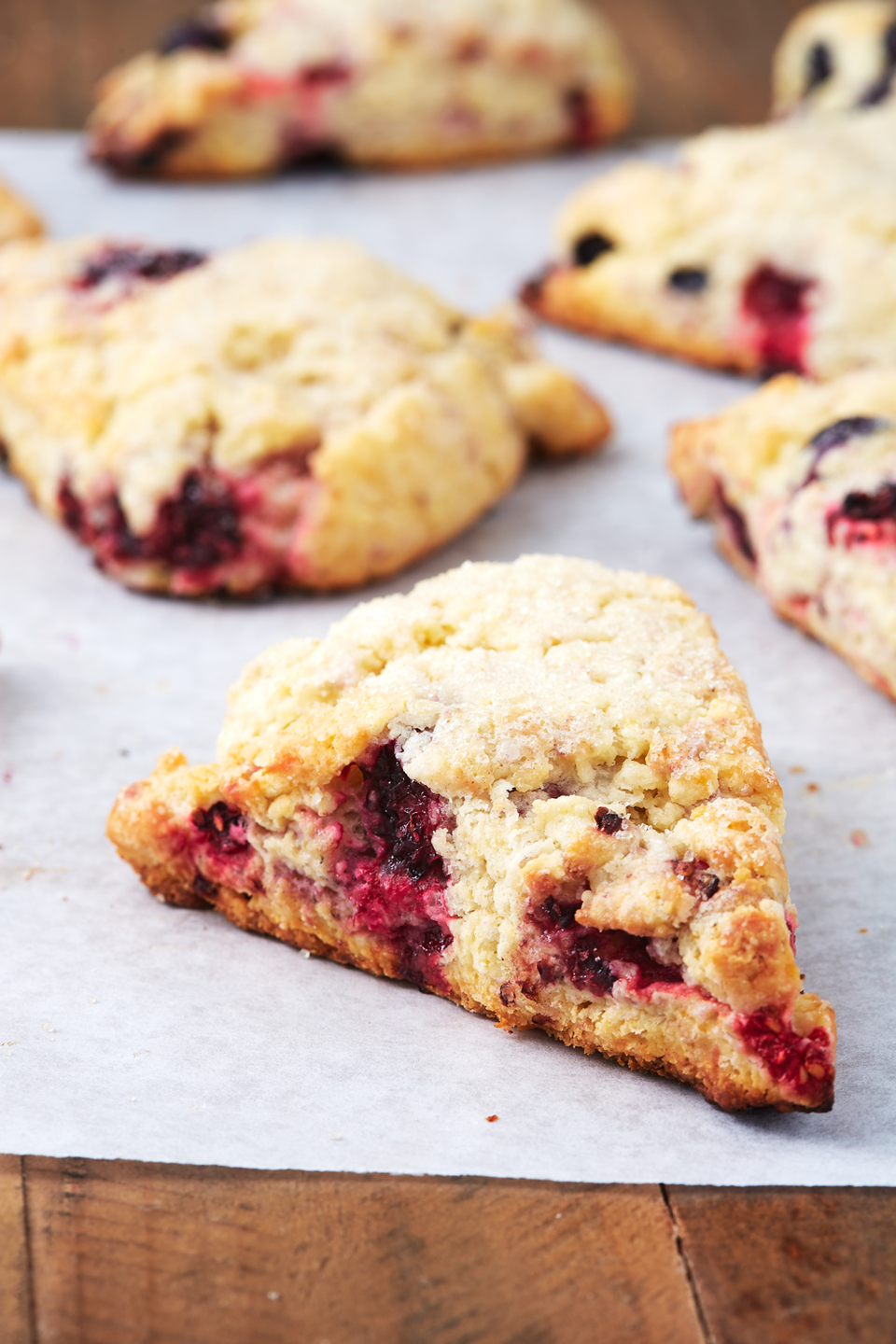 """<p>They've got raspberries, blackberries, AND blueberries.</p><p>Get the recipe from <a href=""""https://www.delish.com/cooking/recipe-ideas/a26830228/fruit-scones-recipe/"""" rel=""""nofollow noopener"""" target=""""_blank"""" data-ylk=""""slk:Delish"""" class=""""link rapid-noclick-resp"""">Delish</a>.</p>"""