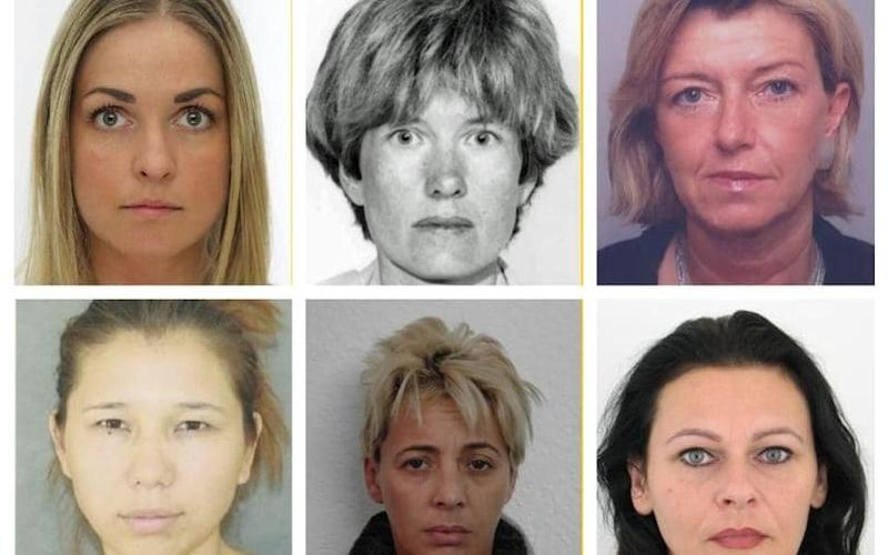 Europol has released the photos of Europe's most wanted women - 18 of the 21 are women