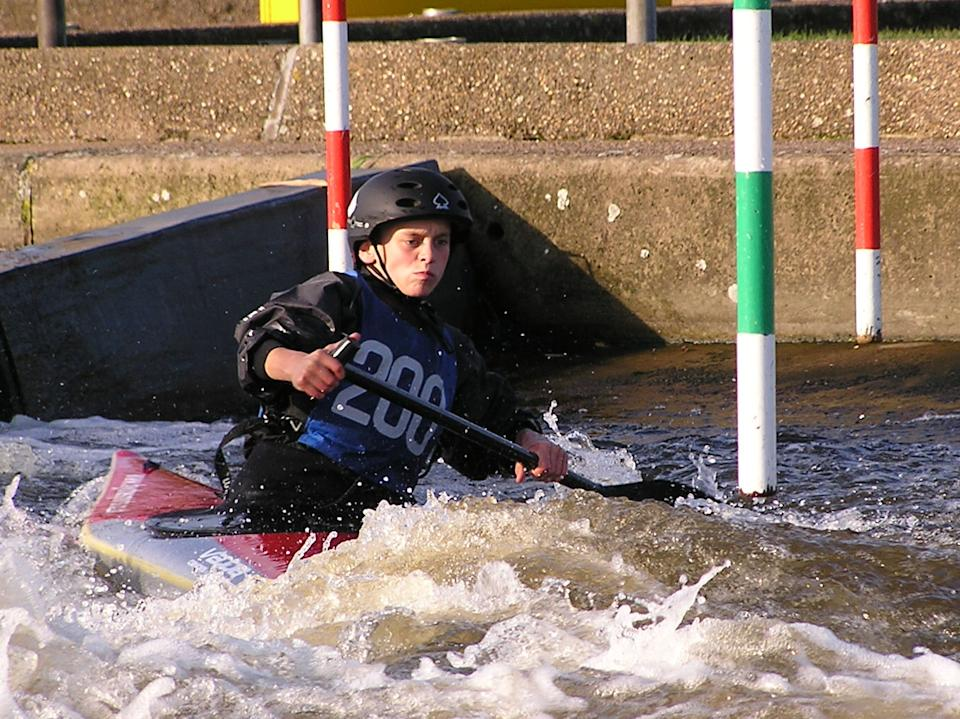 Young Burgess on the water in 2005 (Picture: Andy Neave)