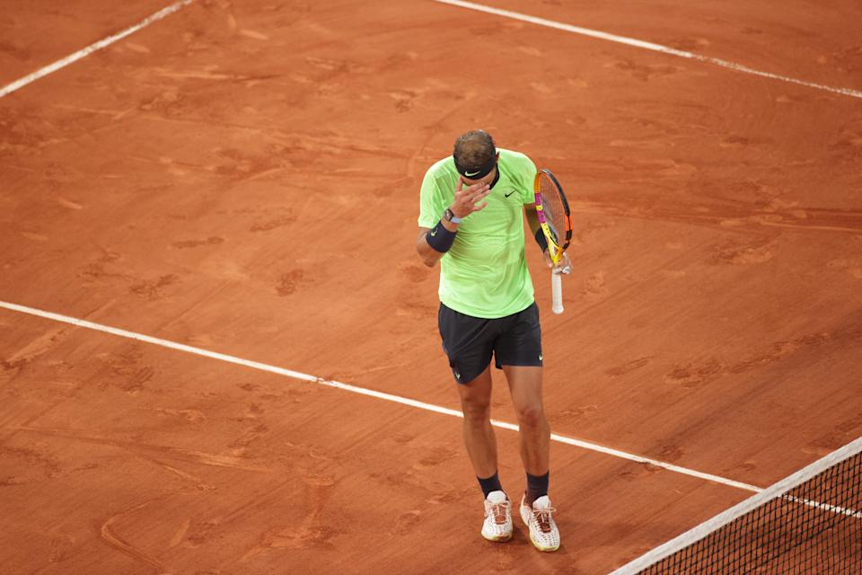 Rafael Nadal, seen here at the French Open, will shut it down for the rest of 2021. (Tim Clayton/Corbis via Getty Images)