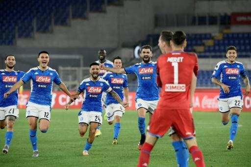 Napoli beat Juventus behind closed doors in the Italian Cup final as football returned to the country on Wednesday