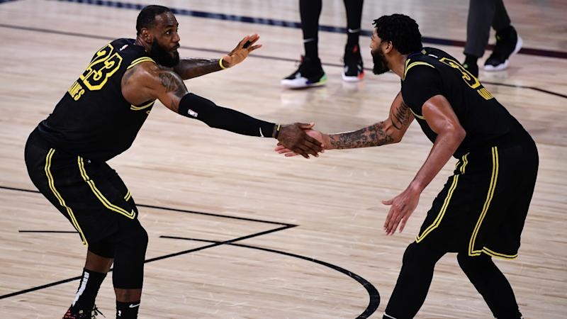 LeBron and Davis star as Lakers level series, Bucks stay alive in NBA playoffs
