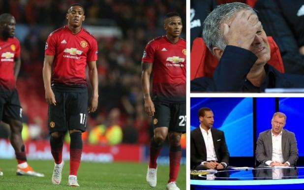 Former Man Utd stars are laying into Jose Mourinho after another abject performance - getty images / bt sport