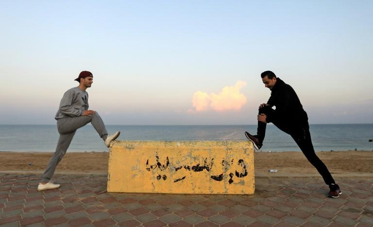 More people in Gaza than usual are taking to the promenade to exercise amid the coronavirus pandemic