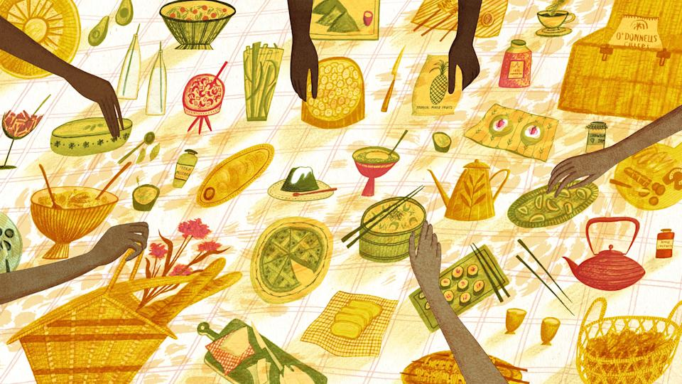 """""""Find a new way to luxuriate over a meal"""" by amping up your summer picnic game, writes Juliet Izon."""