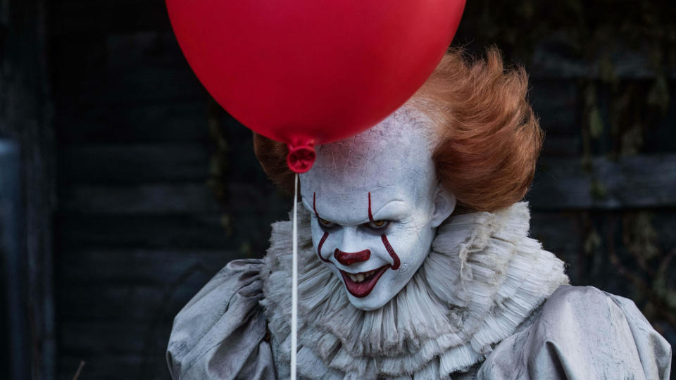 Bill Skarsgård as Pennywise in 'It: Chapter One'. (Credit: Warner Bros)