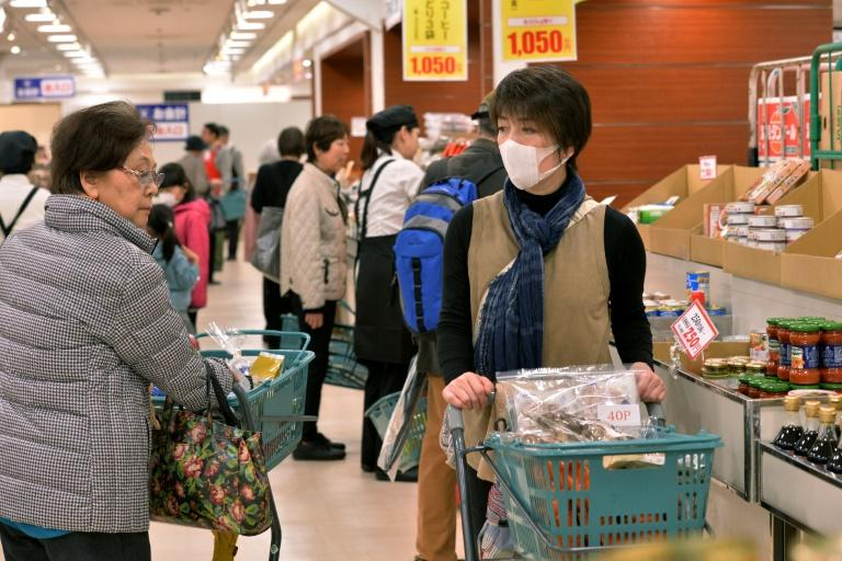 The latest slump appears to have been affected by a rise in consumption tax that came into effect on October 1 (AFP Photo/YOSHIKAZU TSUNO)