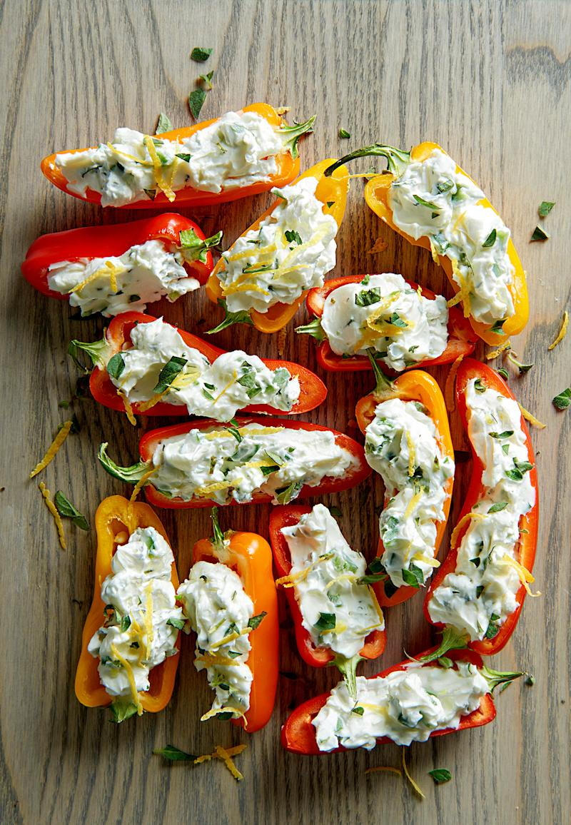 Herbed Cheese Mini Peppers