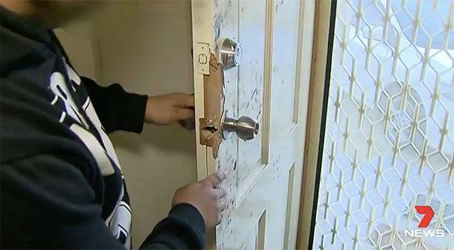 The victim said it took no more than 30 seconds for the gang to break in. Source: 7 News