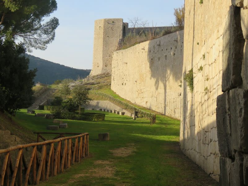 A view of the ancient walls of Amelia