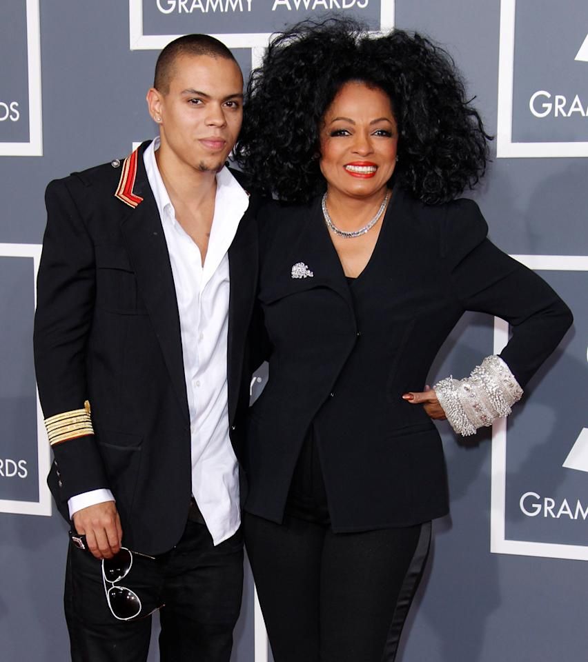 Evan Ross and Diana Ross
