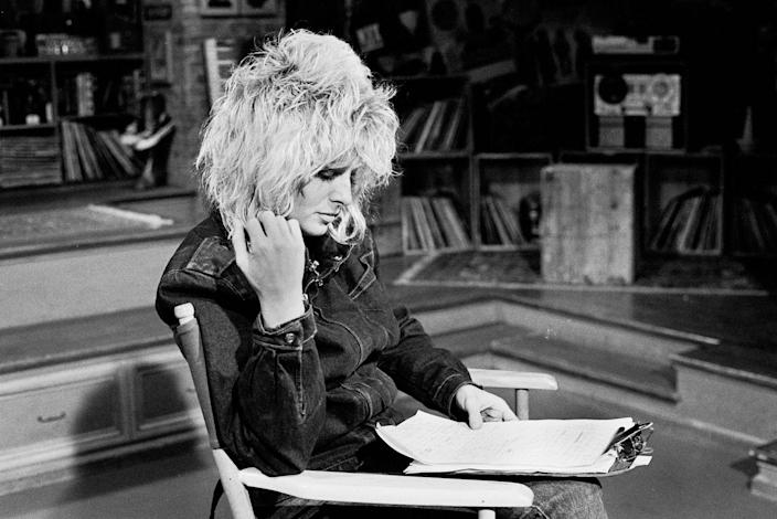 "<p>Another original VJ for ya! While Nina got her start on MTV, she left in 1986 to host ""Rock Report"" for <em>Entertainment Tonight. </em></p>"