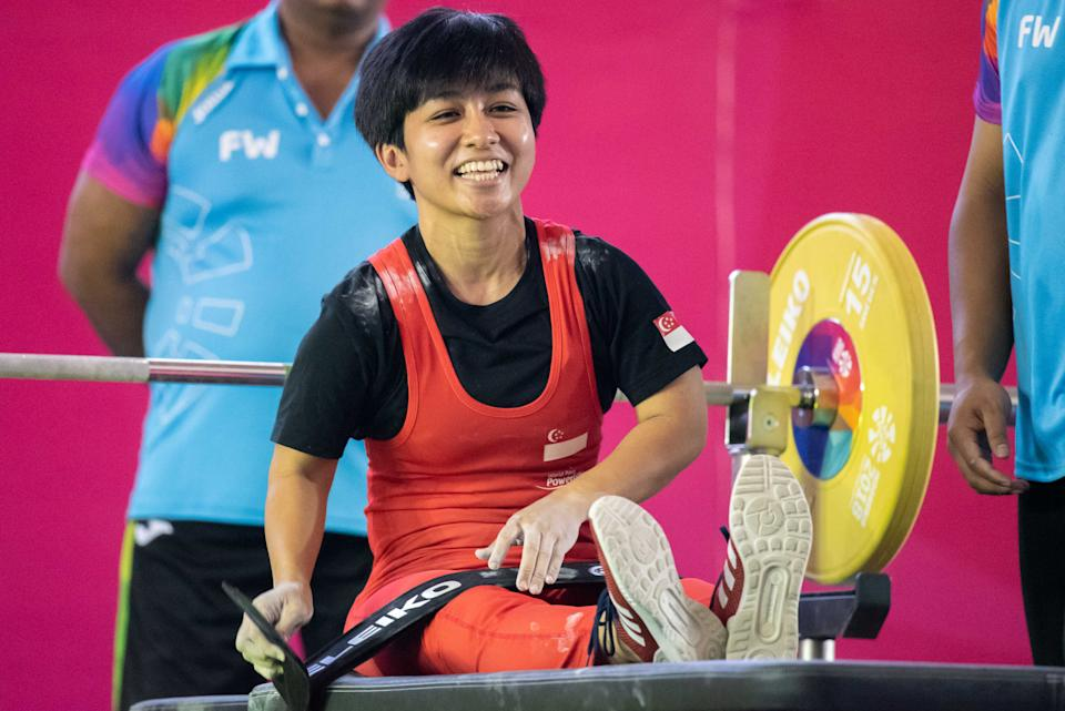 Singapore para-powerlifter Nur'Aini Mohamad Yasli, who will be taking part at the Tokyo Paralympics.