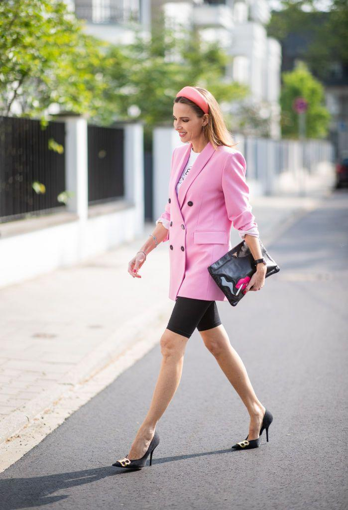 <p>Biker shorts are everywhere. This athletic piece is adored by sports fanatics and fashion-lovers alike. Great from spin class to brunch, keep it sporty with a sweatshirt and sneakers or pair with a blazer and a heel. <br><br></p>
