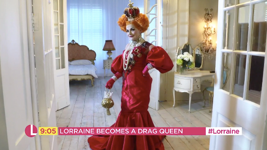 Transformation: Kelly's new look was inspired by royalty (ITV)