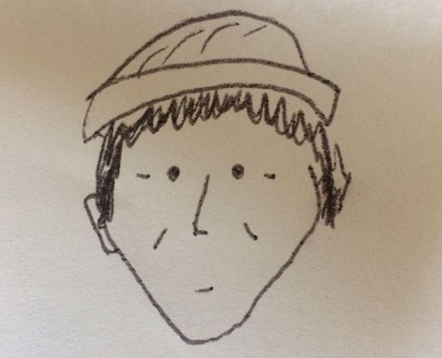 Police were handed this hand-drawn sketch of the alleged thief. Source: Lancaster Police