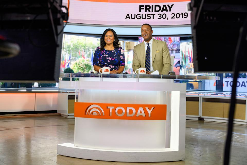 Kristen Welker and Craig Melvin on the set of 'Today'.  (Photo: NBC via Getty Images)