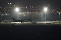A Boeing 767 aircraft flown by Air Canada makes an emergency landing at Madrid's Barajas Airport