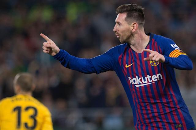"<a class=""link rapid-noclick-resp"" href=""/soccer/players/372884/"" data-ylk=""slk:Lionel Messi"">Lionel Messi</a> will score on you however he pleases, thank you very much. (Getty)"