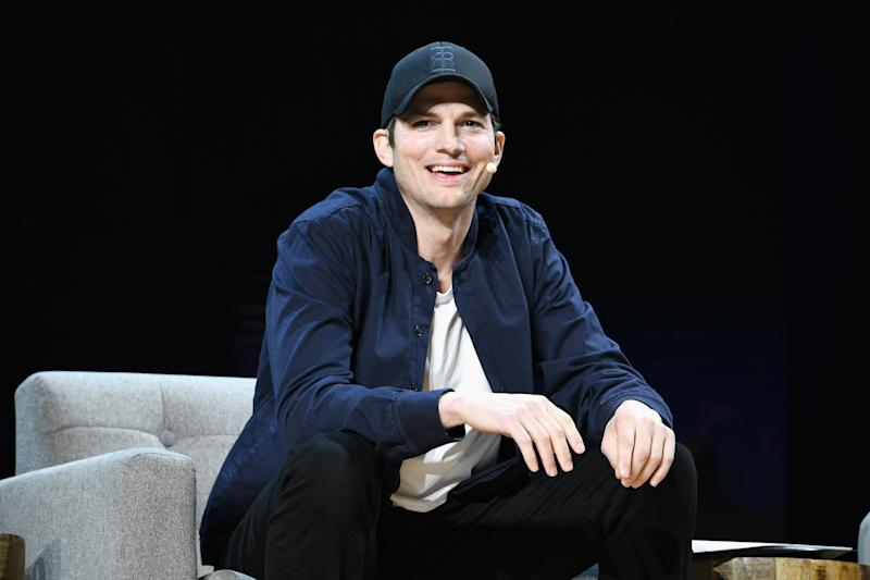 LOS ANGELES, CA - JANUARY 09: Ashton Kutcher speaks onstage during WeWork Presents Second Annual Creator Global Finals at Microsoft Theater on January 9, 2019 in Los Angeles, California. (Photo by Michael Kovac/Getty Images for WeWork)