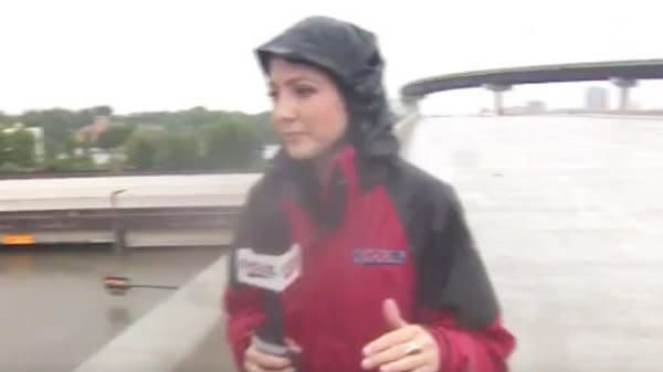 Reporter Leads Rescuers To Truck Driver Trapped In 10 Feet Of Water