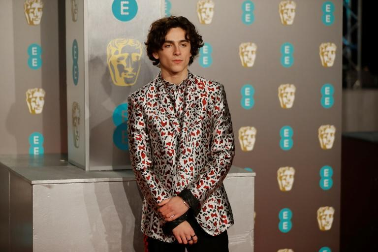 French-US actor Timothee Chalamet, who will co-chair this year's Met Gala, at the British Academy Film Awards in 2019