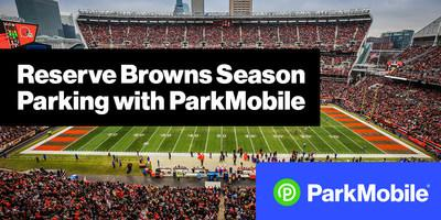 ParkMobile now offers full season parking packages for every Cleveland Browns home game at FirstEnergy Stadium starting at $154. You can book your parking package at https://clevelandbrowns.parkmobile.io or in the ParkMobile app.