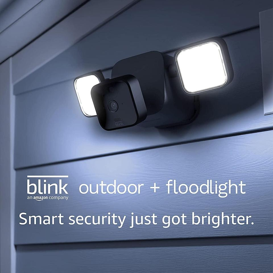 <p>The wireless and battery-powered <span>Blink Outdoor + Floodlight</span> ($140) is everything you need to make sure your home safe. You can see, hear, and speak to visitors in real time. Set up only takes a few minutes. </p>