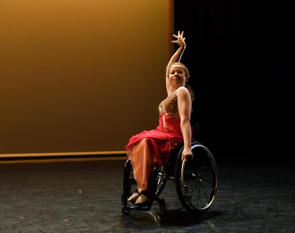 Amy Trigg performing in Fusion, Sadler's Wells, London, 2018.