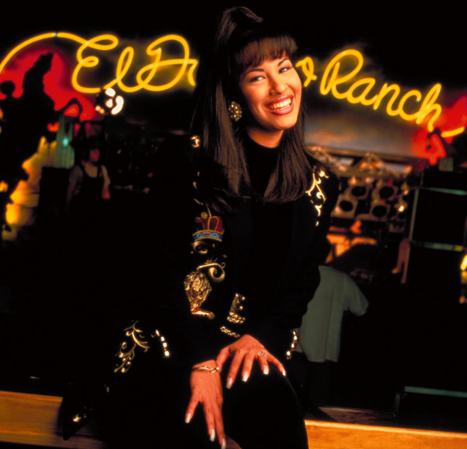 Singer Selena Quintanilla Perez inside nightclub (no caps).  (Photo by Pam Francis/The LIFE Images Collection via Getty Images/Getty Images)