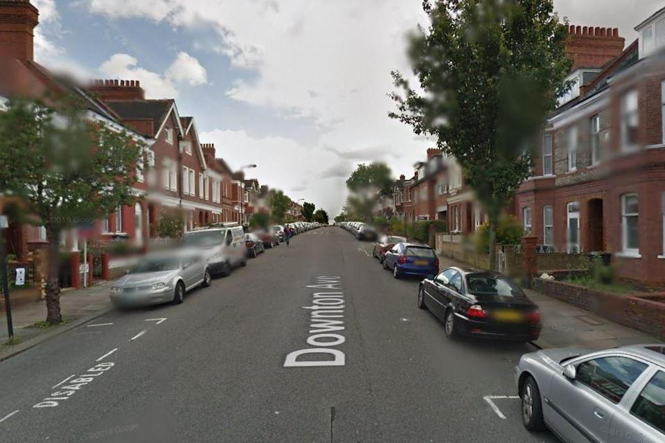 A mother was left bleeding and slumped over a pram after the alleged attack in Downton Avenue