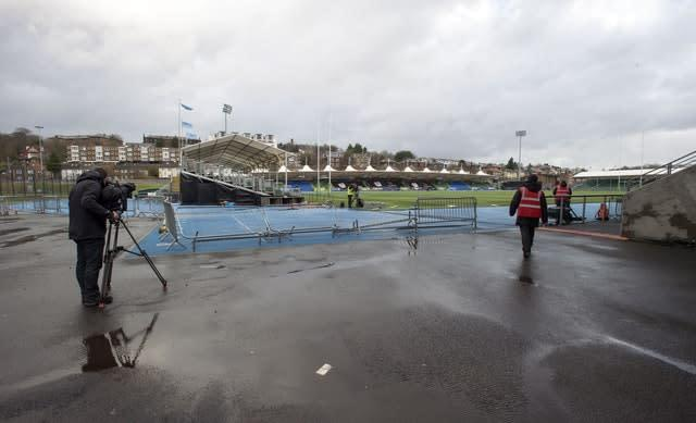 The game could not go ahead at Scotstoun Stadium (Ian Rutherford/PA)
