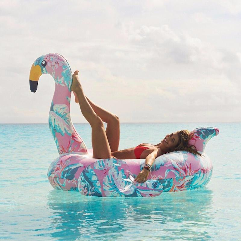 "Step Aside, Pineapples - This Floral Flamingo Is the ""It"" Pool Float of Summer"