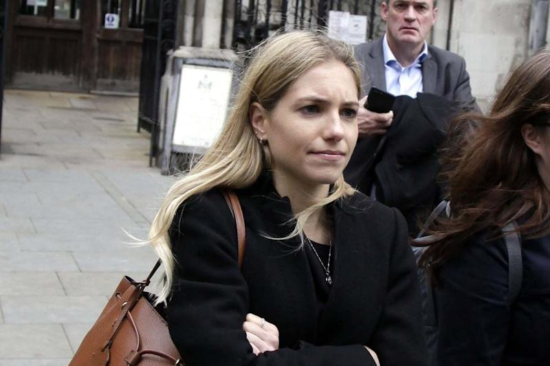 Yoga teacher Gemma Brushett outside London's High Court. (Champion News)