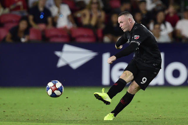 Rooney in action for D.C. United against the Philadelphia Union earlier this month. (Photo by Patrick McDermott/Getty Images)