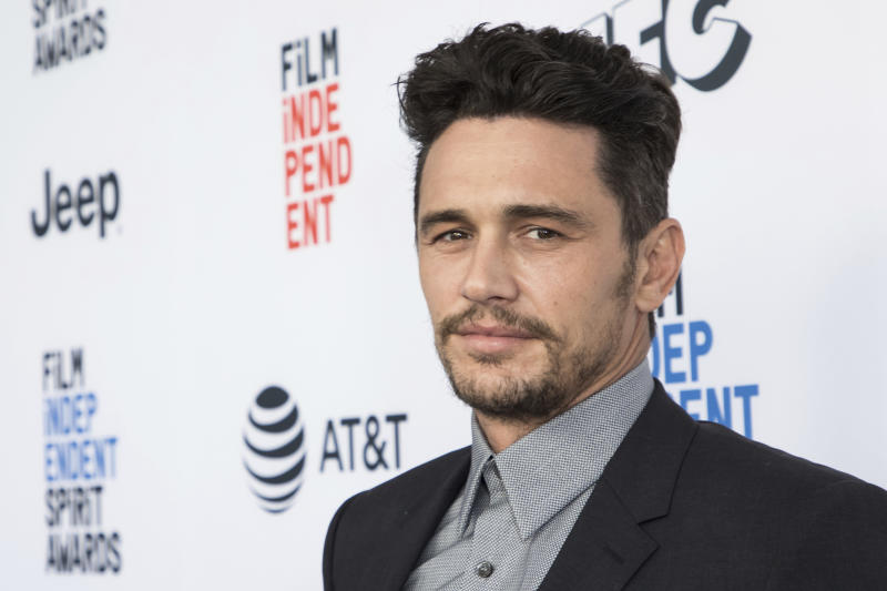 FILE - This Jan. 6, 2018 file photo shows James Franco at the 33rd Annual Film Independent Spirit Award Nominee Brunch in Los Angeles. (Photo by Vianney Le Caer/Invision/AP, File)