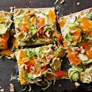 """<p>Brussel sprouts--the once-dreaded side dish--get a tasty overhaul as a crunchy and nutritious pizza topper in this quick-and-easy flatbread recipe. <a href=""""http://www.eatingwell.com/recipe/266698/brussels-sprouts-and-goat-cheese-flatbread/"""" rel=""""nofollow noopener"""" target=""""_blank"""" data-ylk=""""slk:View recipe"""" class=""""link rapid-noclick-resp""""> View recipe </a></p>"""