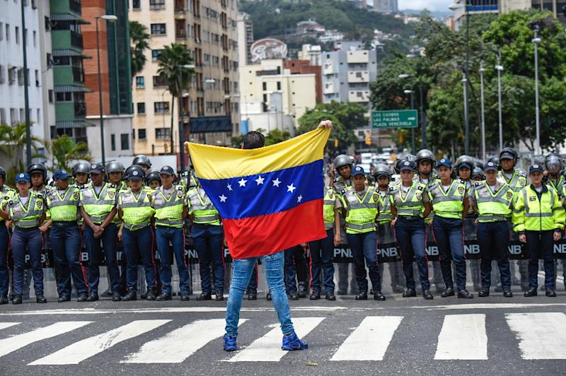 The UN has criticized Venezuela for refusing to issue a visa to any representative from the organization in the region, raising concerns in particular over allegations of repression of opposition voices and civil society groups in the country (AFP Photo/Juan Barreto)