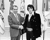 <p>Near the end of the inaugural year of the decade, the King of Rock met with then-current POTUS, Richard Nixon. Ironically, the meeting was regarding the American youth's proclivity for illegal drugs, a plight that would ultimately lead to Presley's death later in the decade.</p>