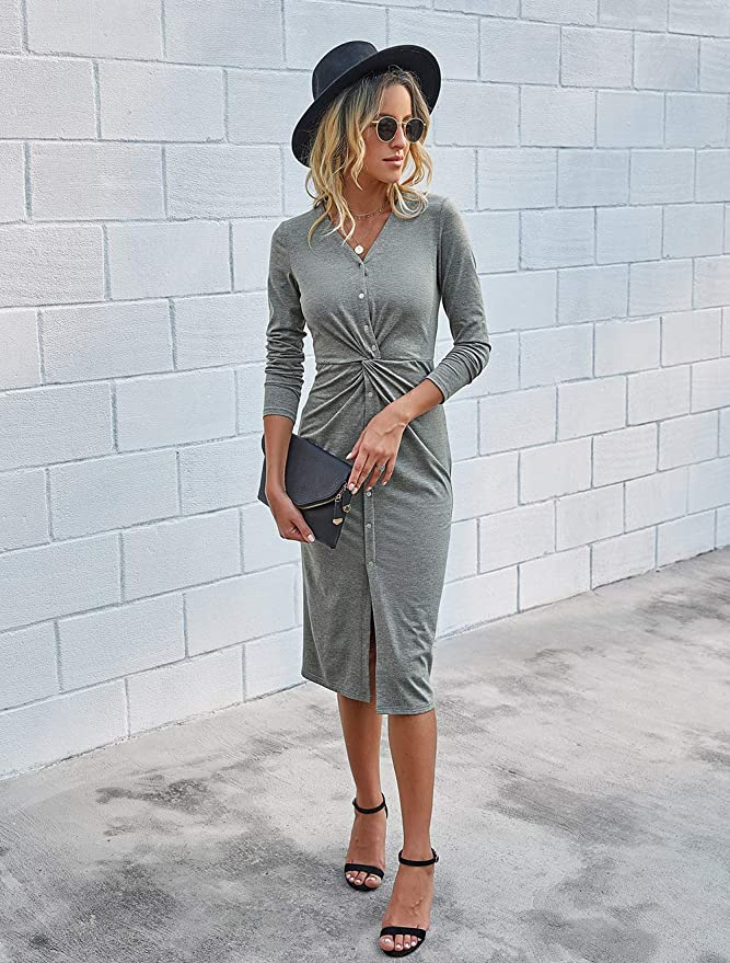 """<br><br><strong>Kirundo</strong> Twist Front Dress, $, available at <a href=""""https://amzn.to/2Xx3NfE"""" rel=""""nofollow noopener"""" target=""""_blank"""" data-ylk=""""slk:Amazon"""" class=""""link rapid-noclick-resp"""">Amazon</a>"""