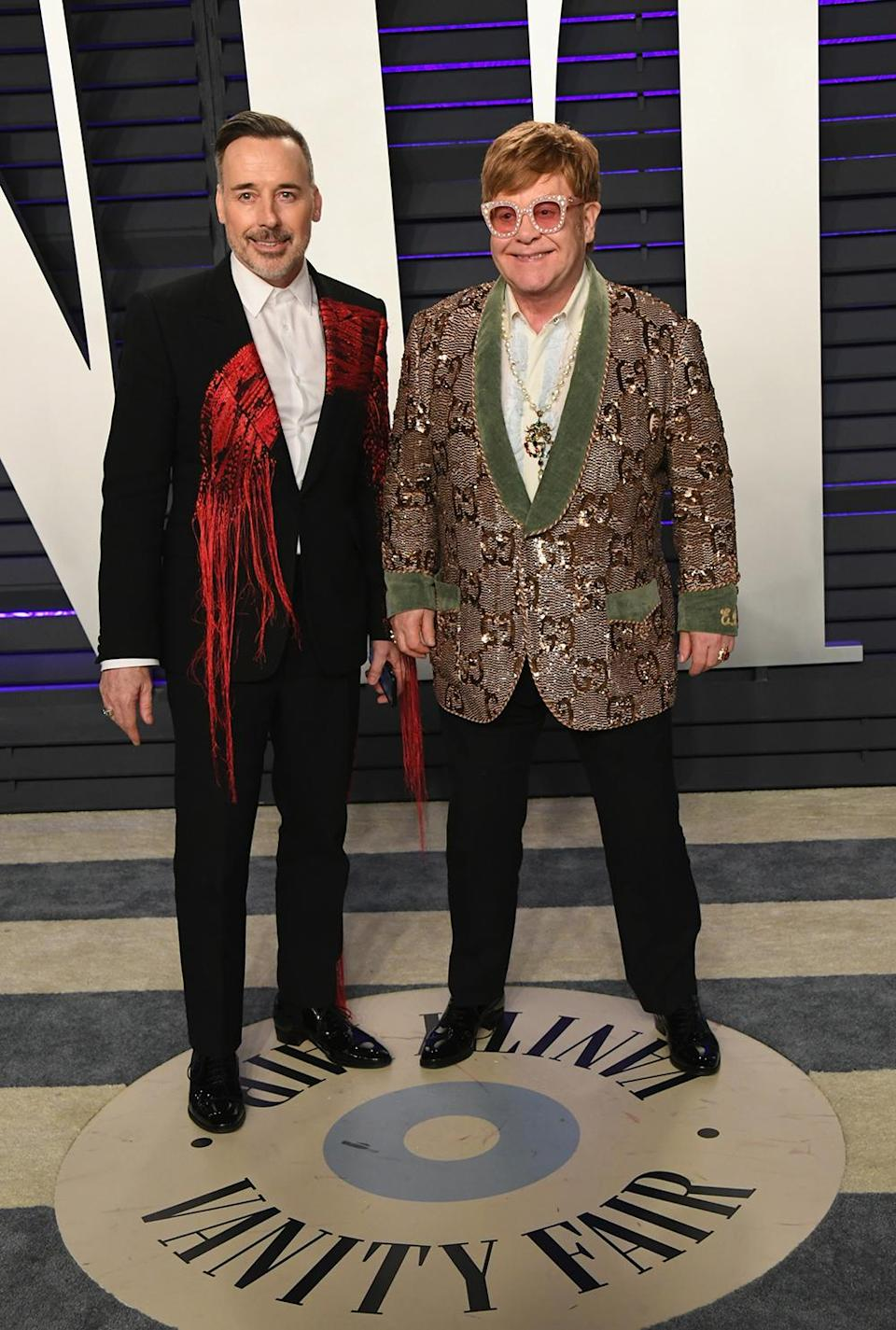 <p>The couple showcased their sartorial prowess in embellished dresses. <em>[Photo: Getty]</em> </p>