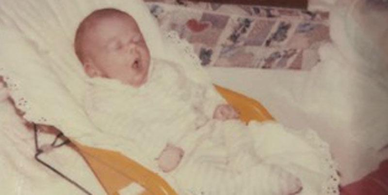 Amanda Jones pictured as an infant while living in a foster home. (Photo: Courtesy of Amanda Jones)