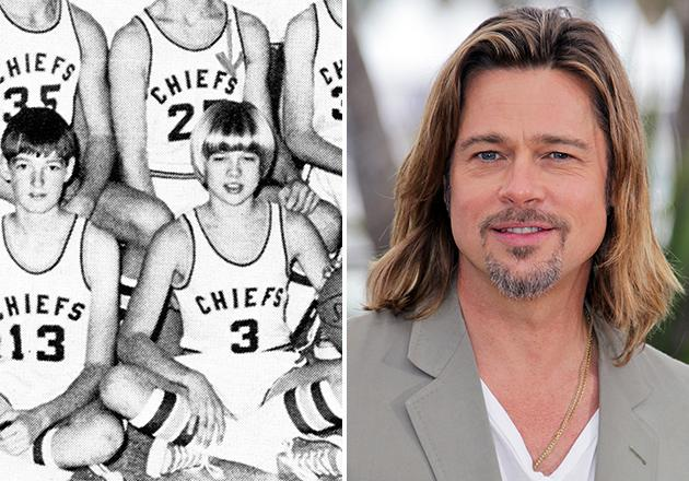 Finally, proof that Brad Pitt's lovely locks have always out-shined his peers'. While we don't have evidence to support the theory that Brad was probably a killer basketball player, but we'd like to think his athleticism isn't just an act. After all, even as a freshman at Kickapoo High School in Springfield, Missouri, it seems Brad always looked like a winner.