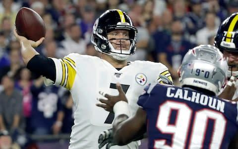 <span>Ben Roethlisberger was far from his best against the Patriots</span> <span>Credit: AP </span>