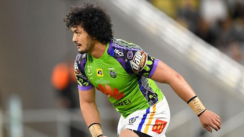 Seen here, Corey Harawira-Naera in action for the Canberra Raiders.
