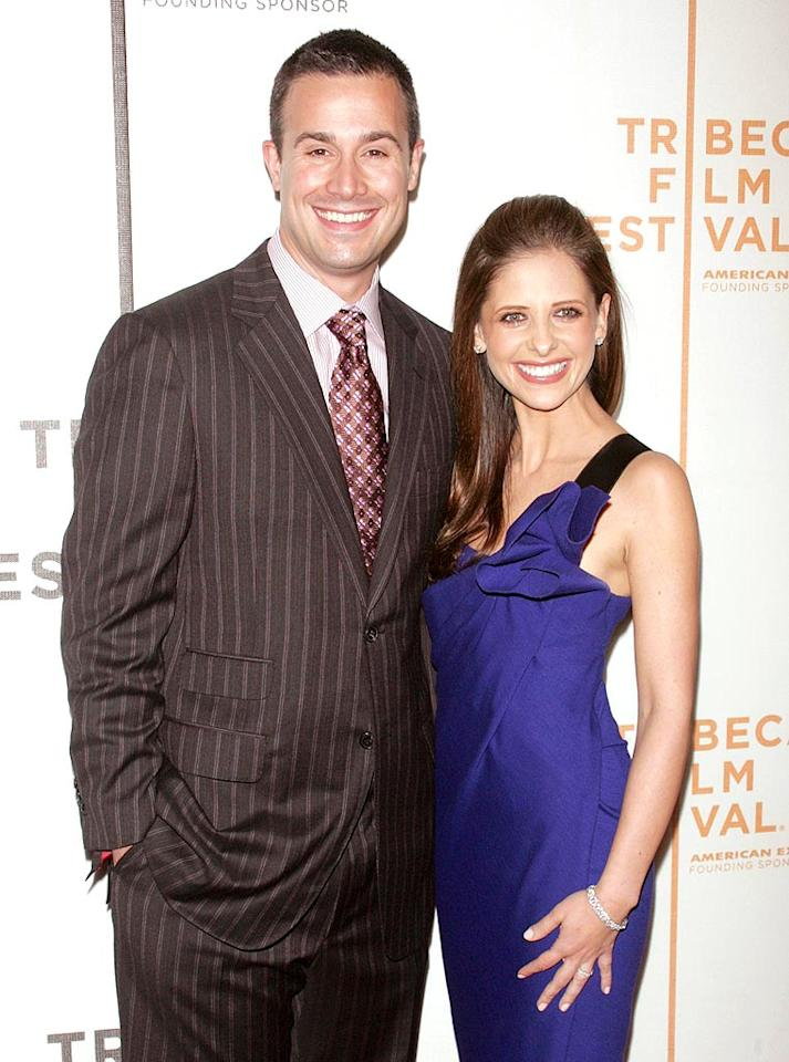 """""""Buffy"""" star Sarah Michelle Prinze had a baby girl, Charlotte Grace Prinze, on September 19. Sarah's husband, Freddie Prinze Jr., told People.com, """"I'm so happy we didn't have kids in our 20s -- I just didn't know a thing. You have so much more patience in your 30s, and I feel like I appreciate this so much more."""" Charlotte is the couple's first child. Jim Spellman/ <a href=""""http://www.wireimage.com"""" target=""""new"""">WireImage.com</a> - April 29, 2007"""
