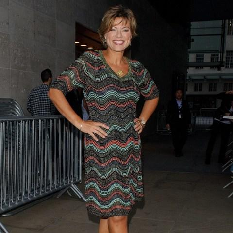 Kate Silverton leaving BBC studios on Friday evening - Credit: GORC/GC Images